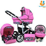 Baby Pram Pushchair Stroller Car Seat Carrycot Travel System Buggy FREEBIES