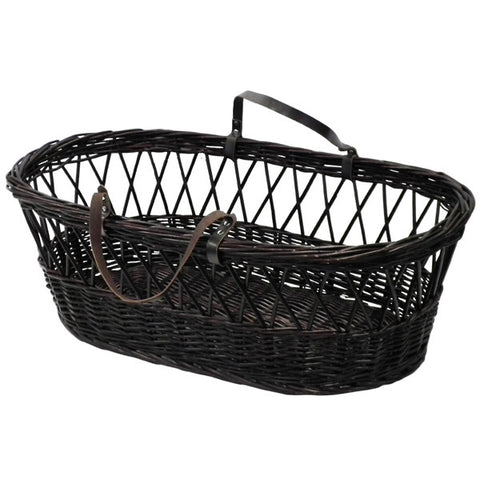 'Undressed' Dark half wicker moses basket