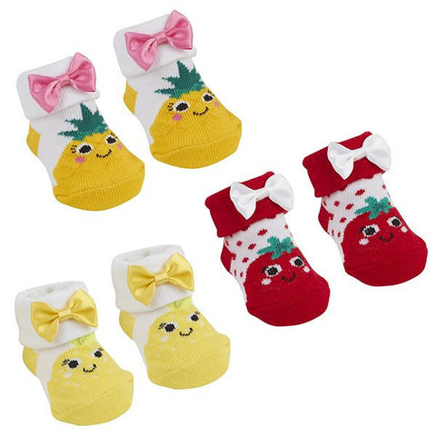 Babies Socks In Organza Bag - Fruits