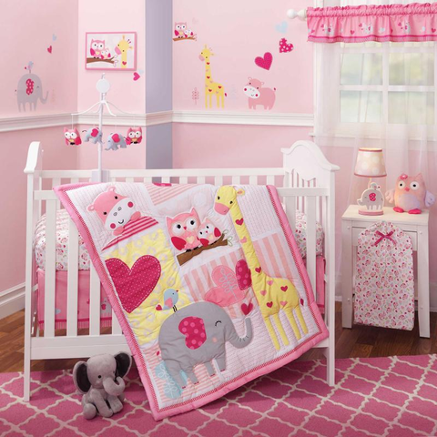 Bubblegum Jungle 3-piece Bedding Set