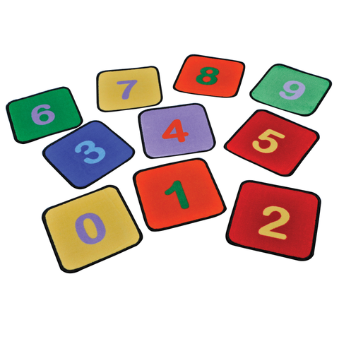 Number Squares Learning Rugs (set of 10)