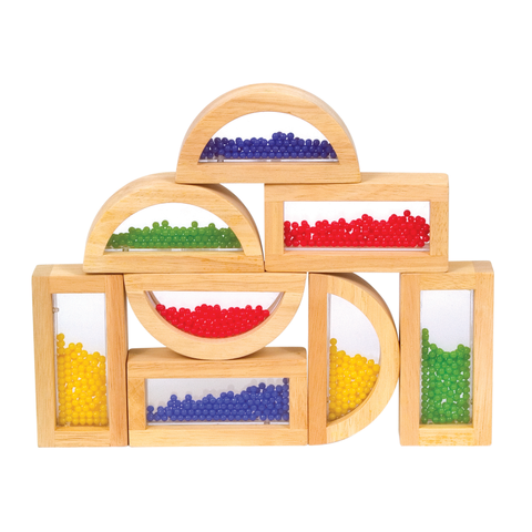 Rainbow Blocks Crystal Bead 8pc