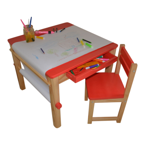 Boss Art Table - Red