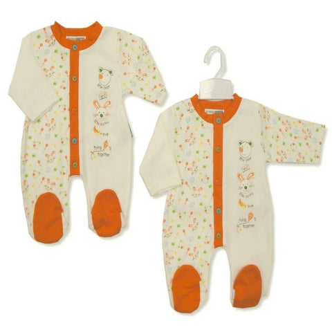 Baby all in one romper suit with animal emboidery