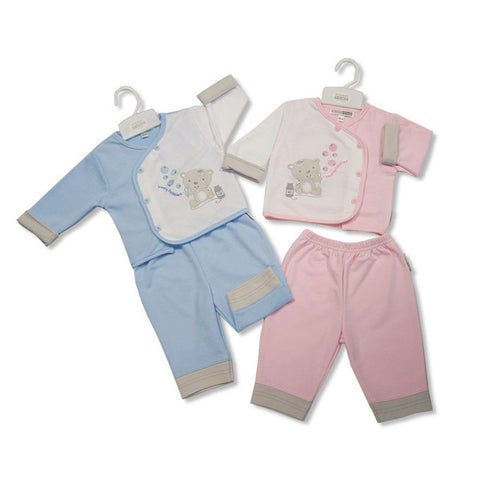 Baby 2pc 'Blowing Bubbles' Button Top & Trouser Set