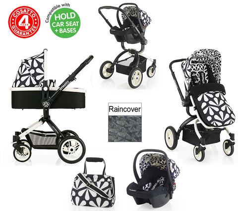 NEW COSATTO CHARLESTON OOBA 3 IN 1 TRAVEL SYSTEM PUSHCHAIR 0+ CAR SEAT CARRYCOT