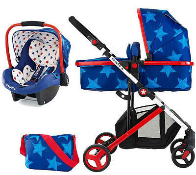 New Cosatto Wish travel system in starbright pram & pushchair with car seat