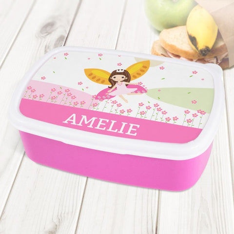 Fairy Personalised Pink Lunch Box