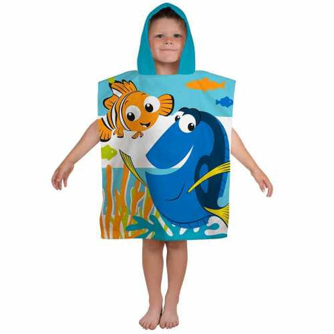 Official Disney Nemo Finding Dory Character Hooded Towel Poncho
