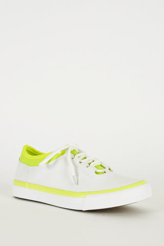 Fluorescent Yellow and White Gym Trainers