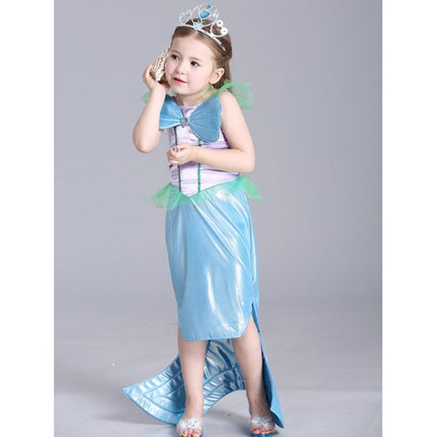 Kids Maxi Mermaid Cosplay Dress