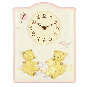 Juliana Resin Wall Clock Bears with Bird and Butte