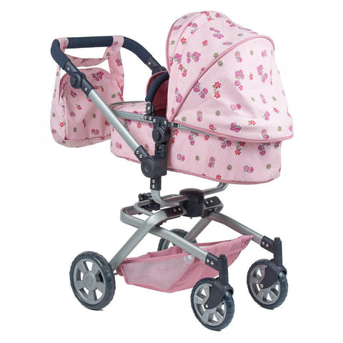 **NEW** Roma Twirl Pink Dolls Pram 2-in-1 + 4-Way Facing