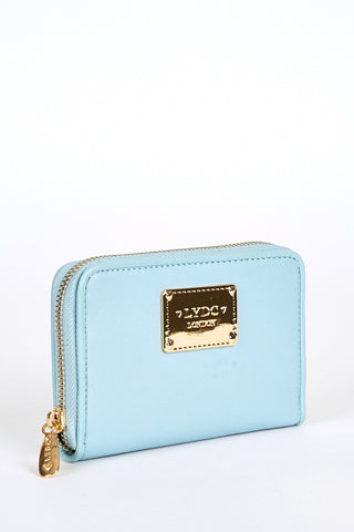 LYDC London Detail Small Purse Light Blue