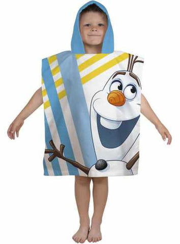 "Official Disney Frozen ""Olaf Chillin"" Character Hooded Towel Poncho"