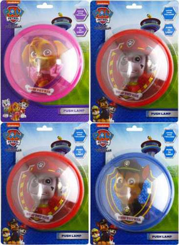 "Official PAW Patrol ""Chase, Marshall & Skye"" 14cm Push Night Lamp"