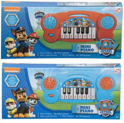 "Official PAW Patrol ""Chase, Marshall & Rubble"" Mini Electronic Keyboard Piano"