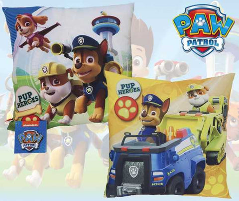 "Official PAW Patrol ""Marshall, Chase & Rubble"" Character Filled Cushion / Pillow 1pp"