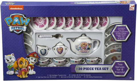 "Official PAW Patrol ""Marshall, Everest & Skye"" 30pc Miniature Porcelain Tea Set"