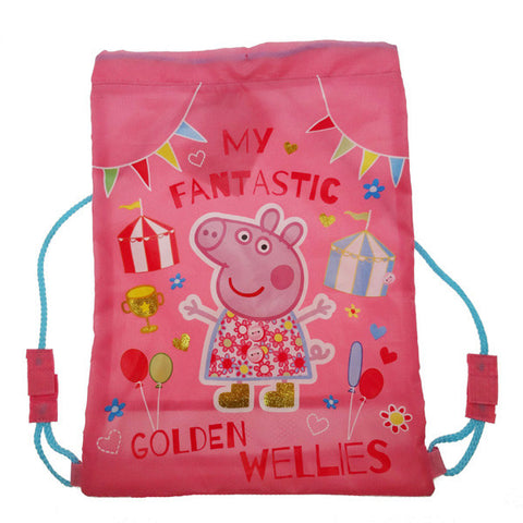 Peppa Pig 'Golden Wellies' Drawstring Swim Bag