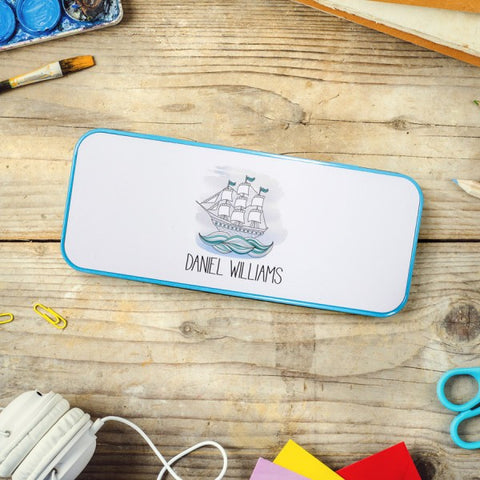 Personalised Boys Pencil Tin