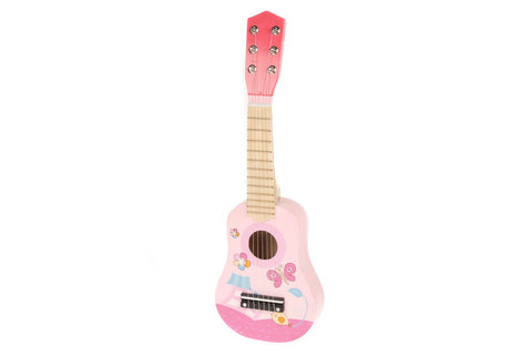 Pink Wooden Acoustic Guitar