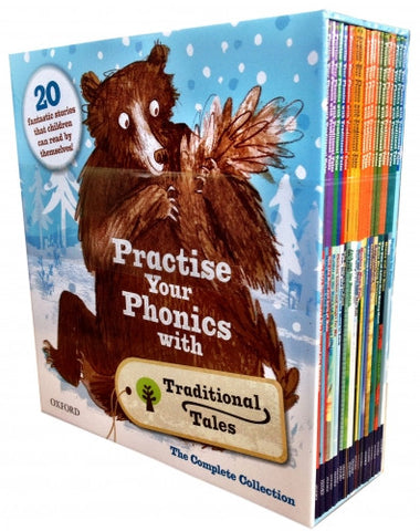 Practise Your Phonics with Traditional Tales Collection 21 Books Set