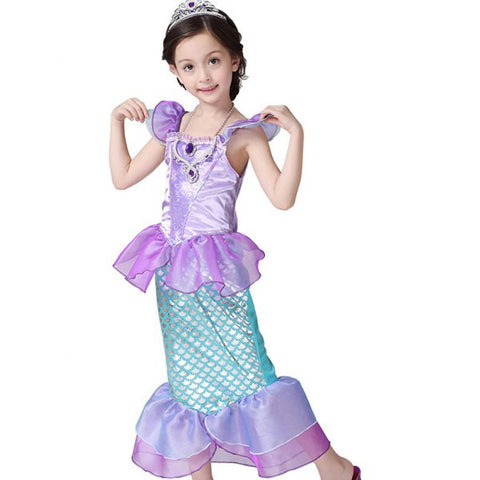 Kids Princess Cosplay Mermaid Dress