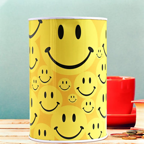 Smiley Face Large Money Tin