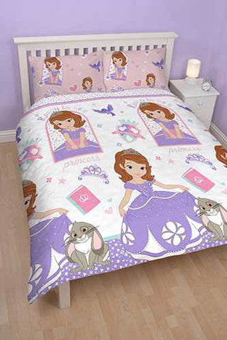"Official Sofia The First Academy ""Reversible"" Double Duvet Cover Bedding Set"
