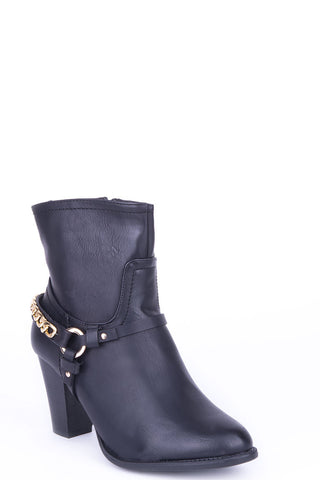 Ankle Boots with Stirrup Detail