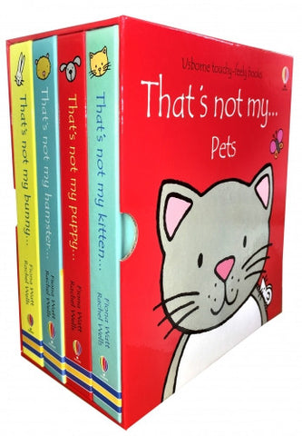 Thats Not My Pets Collection Usborne 4 Books Box Set