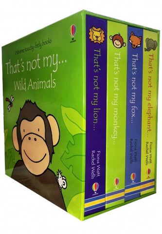 Wild Animals Collection Usborne Thats Not My 4 Books Box Set