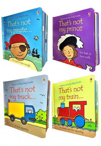 Thats Not My Boys Collection 4 Books Set (Touchy-Feely Board Books)
