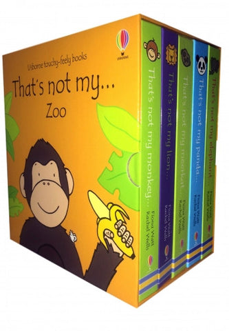 Usborne Touchy-Feely Books Thats Not My Zoo Collection 5 Books Box Set