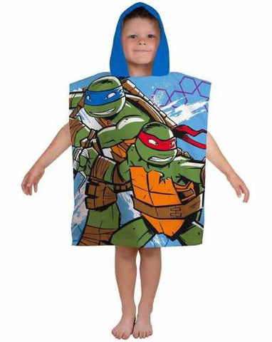 Official Teenage Mutant Ninja Turtles Dimension Character Hooded Towel Poncho