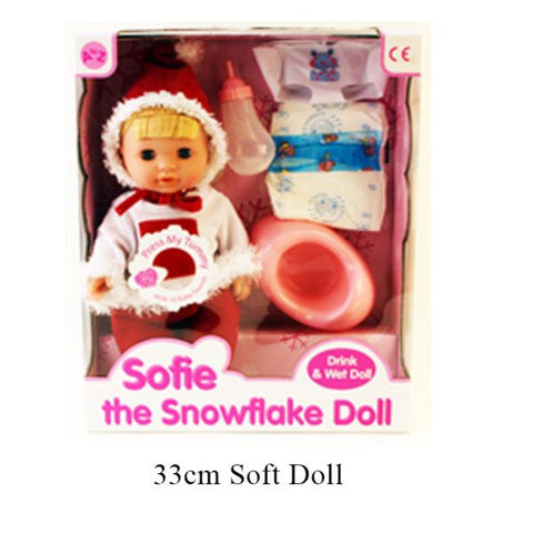 Sofie Snowflake Doll Drink And Wet