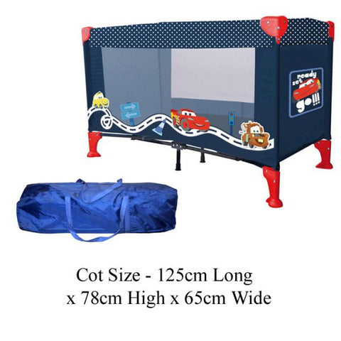 Disney Cars Travel Cot With Carry Bag