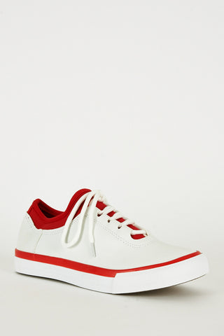 Red and White Gym Trainers
