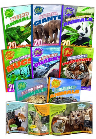 Miles Kelly Wild Nature Amazing Animals Collection 8 Books Set