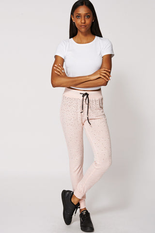 Diamante Joggers with Tie Waistband