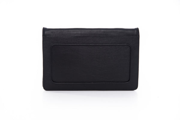 Moon Black Clutch leather handbag