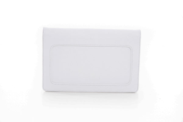 Moon White Clutch leather handbag