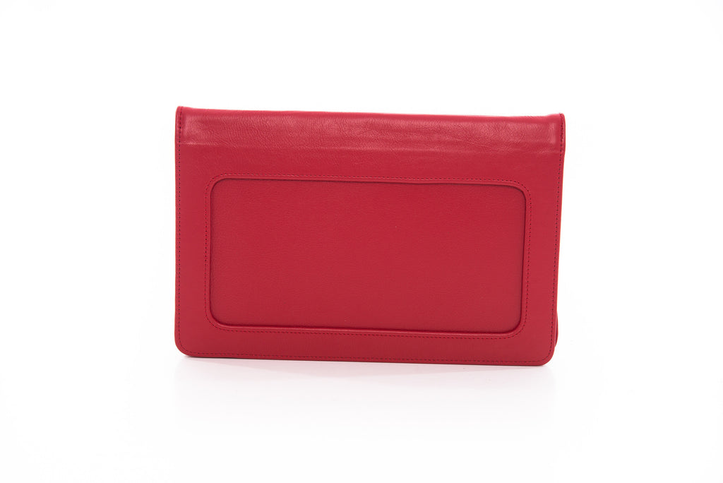 Moon Red Clutch leather handbag