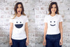 Funny TShirt with infinite smiley faces, Moon Brussels