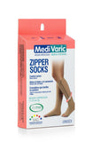 Mid Compression Zipper Knee High Stockings 4313