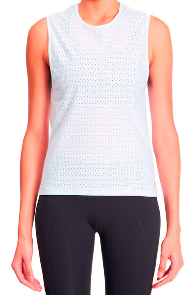 Muscle Tank - White Raindrop