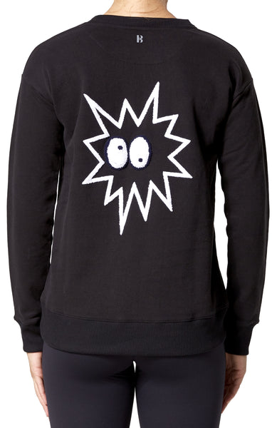 Novelty Star Explosion Sweatshirt - Black
