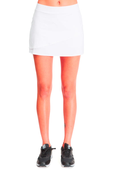 Running / Tennis Skirt with Built in Short - White