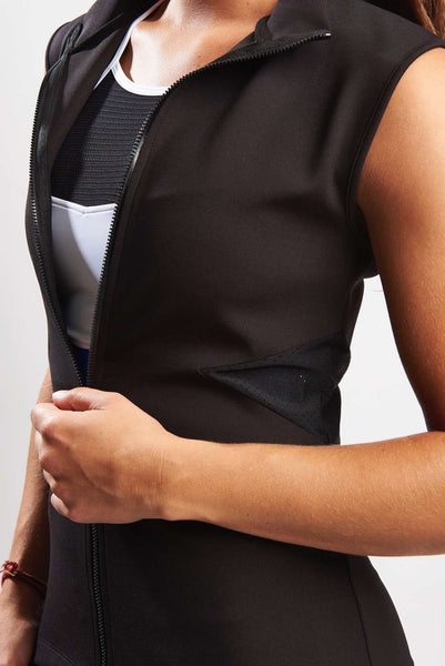 Scuba Vest with Mesh Cut Out - Black
